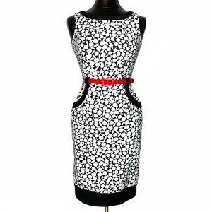 NEW! London Times Belted Sheath Dress Pockets